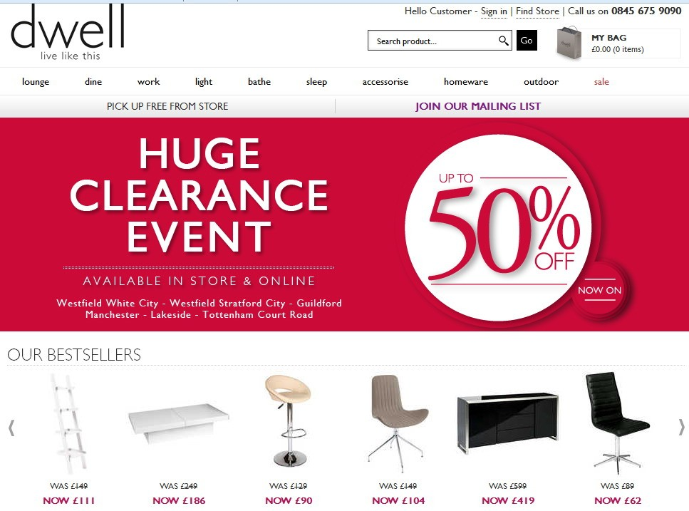 UK furniture retailer Dwell is back in business