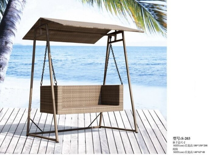 2-Seat-Outdoor-Hanging-Bench-with-Canopy-and-Stand