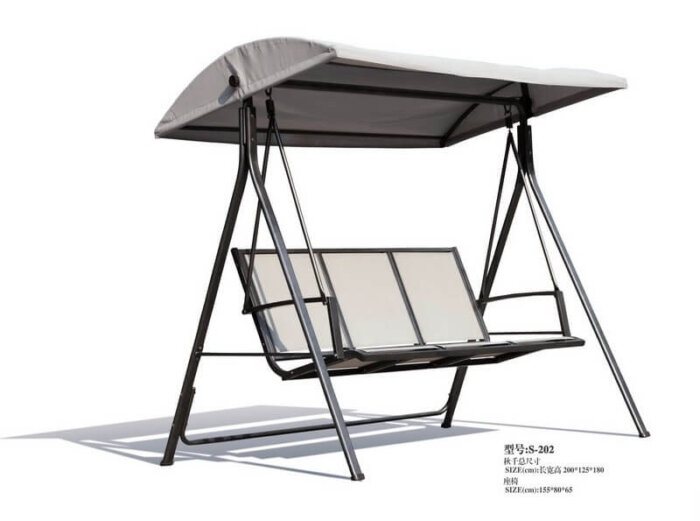 Affordable-Metal-Outdoor-Swing-Bench-with-Canopy-and-Stand-for-Adults