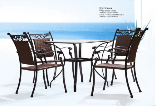 Iron-Antique-Outdoor-Patio-Dining-Set-Furniture-for-4