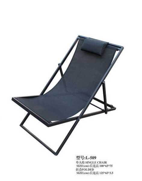 Black-Metal-Frame-Reclining-Sun-Lounger-with-Mesh
