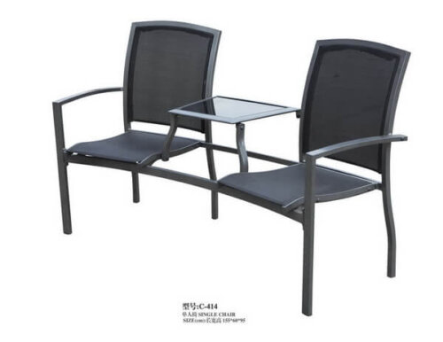 Cast-Aluminum-2-Seat-Outdoor-Chairs-with-Small-Table