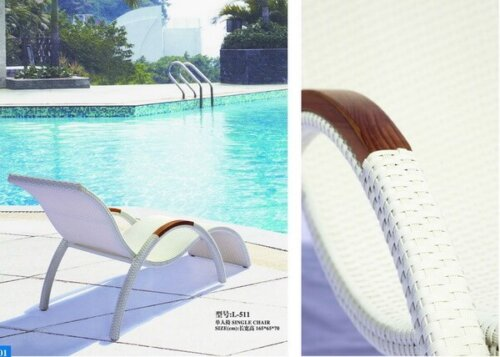 Contemporary-White-Wicker-Reclining-Garden-Lounge-Chairs