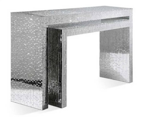 elegant_crystal_veneer_compact_glass_mirrored_console_table_for_hotel_lobby_bedroom_1