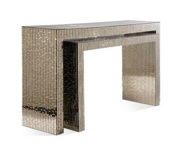 elegant_crystal_veneer_compact_glass_mirrored_console_table_for_hotel_lobby_bedroom_2