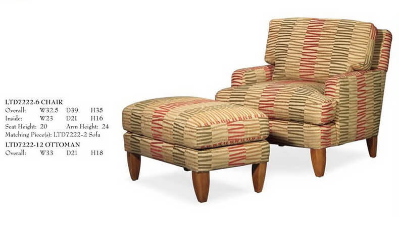 french_countryside_strip_linen_fabric_leisure_chair_ottoman_wood_leg_upholstered_cushion_1