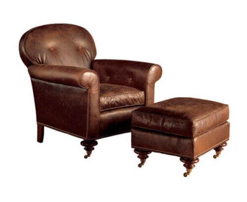 high_end_bedroom_brown_leisure_chair_ottoman_high_elasticity_sponge_1