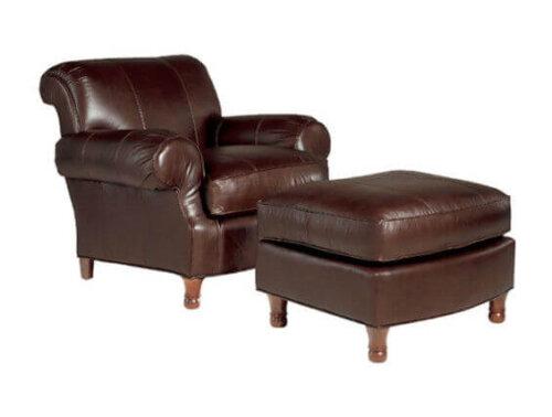 high_end_bedroom_brown_leisure_chair_ottoman_high_elasticity_sponge_2