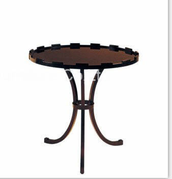 hotel_round_top_high_gloss_paint_side_coffee_table_with_ash_wood_3