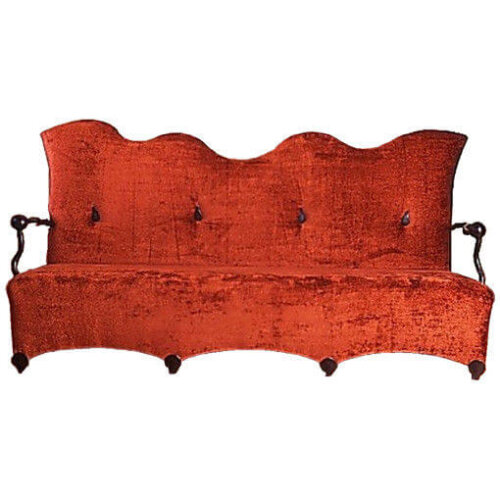 nordic_leisure_wave_shape_two_seat_hotel_room_sofa_colorful_fabric_wooden_frame_1
