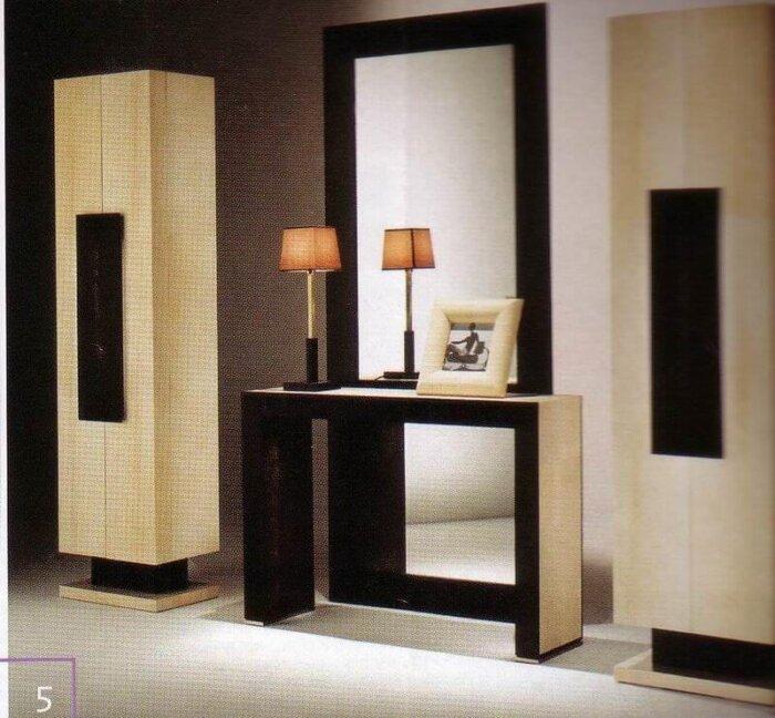 5_star_hotel_lobby_solid_wood_console_table_walnut_veneer_reception_table_2