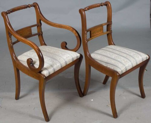 brass_inlaid_side_hotel_dining_chairs_with_carved_and_gilded_lyre_back_cream_damask