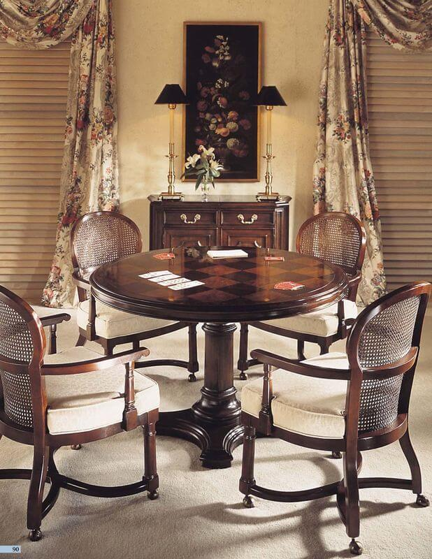 wood_mahogany_round_restaurant_hotel_dining_table_with_chair